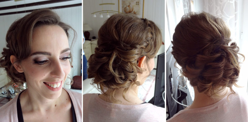 Brautstyling-Flieder-Rose